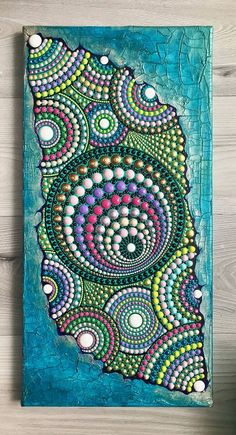 Original Abstract Painting by Medea Balanica Dot Art Painting, Mandala Painting, Pictures To Paint, Painting Pictures, Skin Paint, Original Art, Original Paintings, Embroidery Motifs, Canvas Art