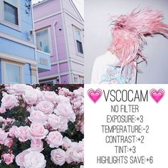 "Find and save images from the ""VSCO"" collection by staying strong♡ (augustoswife) on We Heart It, your everyday app to get lost in what you love. Vsco Photography, Photography Filters, Photography Editing, Photo Editing, Photography Tools, Instagram Feed, Pink Instagram, Vsco Feed, Vsco Gratis"