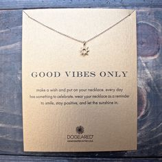 """dogeared """"Reminder - Good Vibes Only"""" 16"""" dainty necklace"""
