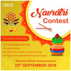 🤩 Navratri Contest 🤩 Participate & Win Oxidized Jewellery Combo Absolutely Free❤️  Follow the Rules 👇: ▪️ Like Foxiie Trends Page ▪️ Like this Post ▪️ Invite Your Friends to Like this Page ▪️ Tag Your Friend in Comment & Tell them to do the same  #navratri #navratricontest #faceboookcontest #giveaway #jewellerygiveaway #contest #jewellerycontest #free #contestalert #contestindia #participate #winjewellery #Foxiie #FoxiieTrends Jewellery Sale, Jewelry, Oxidised Jewellery, Invite Your Friends, Giveaway, Invitations, Trends, Free, Jewlery