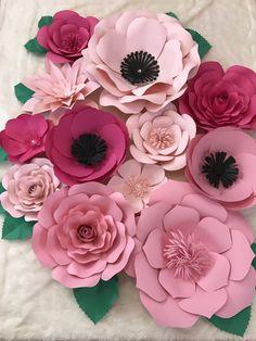 Gran telón de fondo de flor de papel / vivero Decor