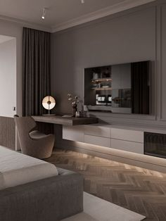 ✔ 60 warm and cozy master bedroom decorating ideas that you need to copy right. - ✔ 60 warm and cozy master bedroom decorating ideas that you need to copy right now 39 - - Luxury Bedroom Design, Modern Master Bedroom, Tv In Bedroom, Master Bedroom Design, Minimalist Bedroom, Home Interior Design, Bedroom Decor, Bed Room, Contemporary Bedroom