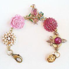 Spring pink jewelry box bracelet by Pink Dogwoods  www.pinkdogwoods.com