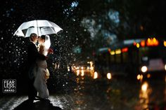 Beautiful photo of a city wedding couple. Pic by Fearless Photographers