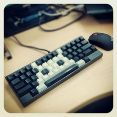 Space Invader HHKB Pro. By the way, this is a 250 dollar keyboard.