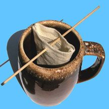 hemp reusable tea bags: works with loose teas, coffee & coffee substitutes