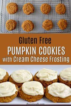 These Gluten Free Pumpkin Cookies With Cream Cheese Frosting Are ! These Gluten Free Pumpkin Cookies With Cream Cheese Frosting Are ! Gluten Free Pumpkin Cookies, Gluten Free Deserts, Pumpkin Spice Cookies, Gluten Free Cookie Recipes, Gluten Free Sweets, Fall Cookies, Keto Recipes, Gluten Free Thanksgiving, Thanksgiving Desserts