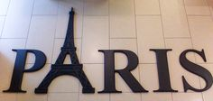 Paris Wall Decor cut from blue foam on a CNC router and painted.