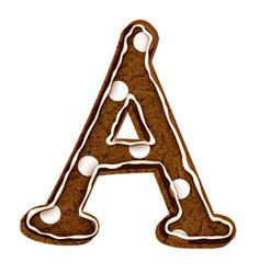 Alfabeto Decorativo: Alfabeto - Biscoito de Chocolate - PNG - Letras - ...