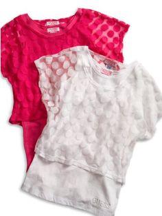 GUESS Kids Girls Big Girl Dotted Mesh Top Tank « Clothing Impulse
