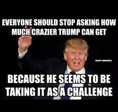 This Idiot has shown us all year long what a Repulsive, Duplicitous Hate Monger he is. He Divided and Conquered the minds of America. He's not crazy....He's Evil.