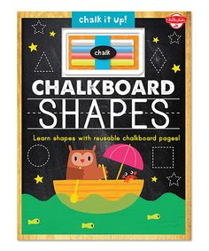 This Chalkboard Shapes Hardcover by Quarto is perfect! #zulilyfinds