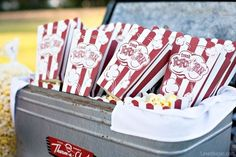 Fresh popcorn summer party food outdoors fun