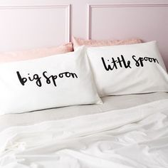 'Big Spoon Little Spoon' Pillow Cases - bedding & accessories