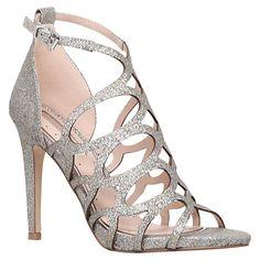 Buy Miss KG Grape Caged Stiletto Occasion Sandals, Multi Online at johnlewis.com