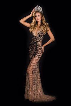 Belíssimo vestido da Martina Brandt, Miss Brasil 2015.