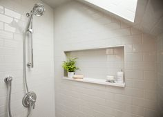 Love It or List It Vancouver: Lisa & Chris's new, bright, open and airy bathroom.
