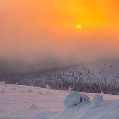 Sun. Muonio, Finnish Lapland. Photo by Timo Veijalainen