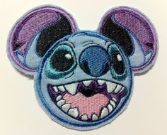 Stitch Inspired Mouse Ear Patch - Lilo and Stitch Embroidered Applique Mickey Mouse Head, Mouse Ears, Lilo And Stitch 2002, Lilo Stitch, Disney Mickey, Disney Cruise, Disney Magic, Disney Patches, Custom Embroidered Patches