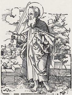 Beham, Hans Sebald: »Die Zwölf Apostel und Christus als Salvator mundi«, Hl. Paulus c.1530