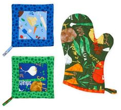 Sew Easy Pot Holder and Oven Mitt | AllPeopleQuilt.com