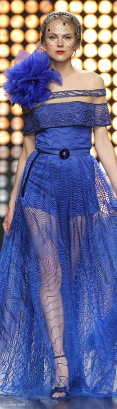 Love the color, not the dress. Isabel Sanchis F/W 2015