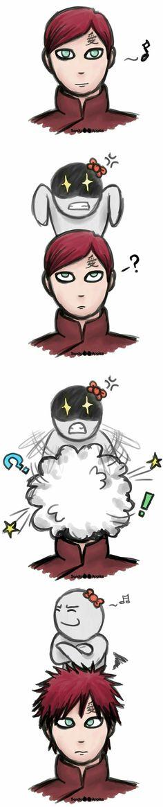 Gaara, character, hair, comic, funny; Naruto