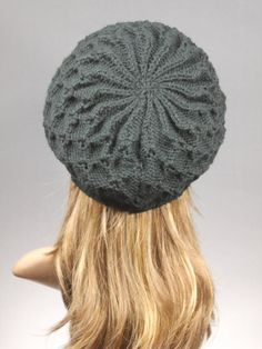 Made to Order Slouchy Beanie Women s Knit Hat by GoKnitsDotCom