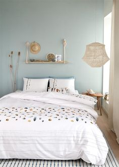 Inspiratie: dekbedovertrektrends 2019 - Lilly is Love Bedroom Wall Colors, Home Decor Bedroom, Natural Bedroom, New Room, Luxury Bedding, Room Inspiration, Interior Design, Marjolein Bastin, Notebook Ideas