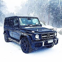 Ready to hit the slopes. Mercedes Benz G-Class G63 AMG