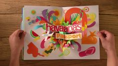 The acclaimed Havaiana Travel Competition stop motion video, with hand made paper craft pop up book by Noelia Lozano.