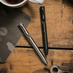 Bolt Action Tactical Pen - Black - Cool Material