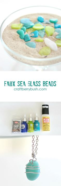 Faux sea glass beads with polymer clay