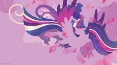 Rainbow Power Twilight Sparkle Silhouette Wall - SpaceCatSamba.com
