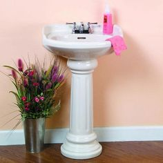 Pegasus Vicki 22 In. Pedestal Lavatory Sink Combo In At The Home Depot