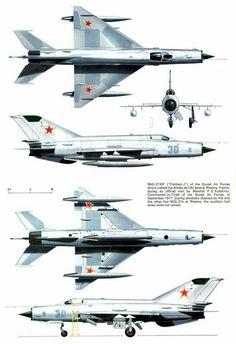 Микоян  МИГ-21МФ фронтовой  истребитель