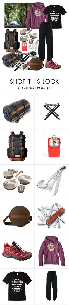 """All By Myself in the Woods"" by christined1960 ❤ liked on Polyvore featuring Pendleton, Jayson Home, Kavu, Coleman, GSI Outdoors, Salomon, Patagonia and MM6 Maison Margiela"