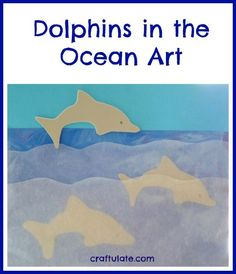Dolphins in the Ocean Art by Craftulate