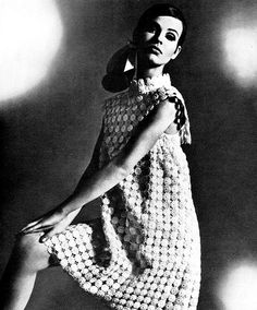 Maggy Rouff    Model is wearing a creation of Maggy Rouff.  Revue Magazine,Collections Autumn / Winter 1967