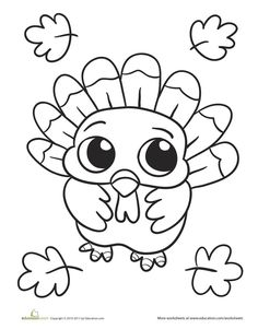 Easy thanksgiving coloring pages for toddlers ~ 189 best Easy Coloring Pages for Kids images on Pinterest ...
