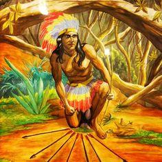 #umbanda #umbandasaber #7 #Flechas #Cabloco #Oxossi #historia #cabloco #7flecha O Caboclo Sete Flechas era um índio Oriundo da Tribo Dos Patachós, que se localizava na Mata Escura na época (entre os anos 200 e 300), onde hoje é o Estado da Bahia, é um Caboclo que vem na Irradiação de Oxóssi, podendo ser cruzado para vir na enviação de todos os Orixás, o que vou lhes explicar agora é que dá sentido ao que falo:  O Caboclo Sete Flechas recebeu as suas Flechas de 7 Orixás, a mando do Pai Oxalá…