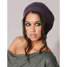 winter beanie hat with cute hairstyle
