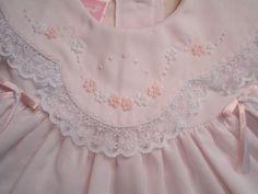 WillBeth Preemie Baby Girl Fancy Frilly Portrait Dress Lace Sz 00 | eBay $60