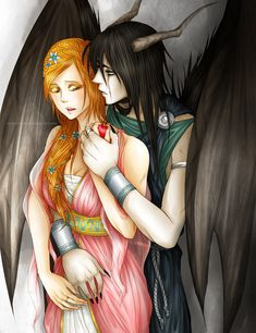 UlquiHime: Hades and Persephone. by Megami-tama.deviantart.com on @deviantART