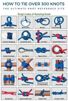 How To Tie Over 300 Knots : The Ultimate Knot Reference Site - This is the…