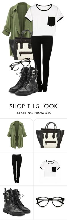 """back to school outfit #1"" by imsarathepanda ❤ liked on Polyvore featuring CÉLINE, MM6 Maison Margiela and Giuseppe Zanotti"