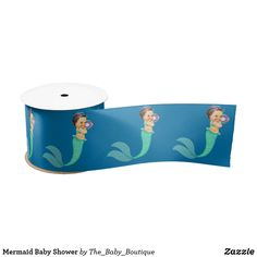 Shop Mermaid Baby Shower Satin Ribbon created by The_Baby_Boutique. Ocean Baby Showers, Mermaid Baby Showers, Cute Mermaid, Baby Mermaid, Baby Shower Party Supplies, Baby Shower Parties, Under The Sea Theme, Beautiful Baby Shower, Baby Boutique
