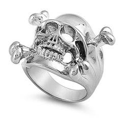 Skull & Cross Bones Ring Solid Stainless Steel Only $27.00 #FreakishlyUncommon