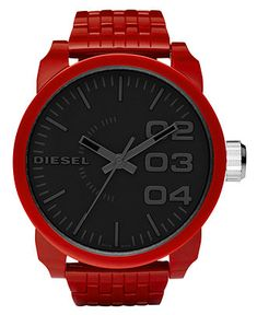 #DIESEL #red #mens #watch