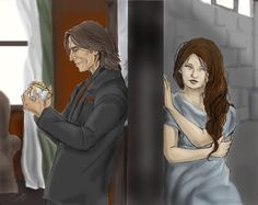 "Rumplestiltskin and Belle from ""Once Upon a Time"""